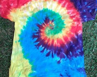 Tye dye bright rainbow jawn, #34, Large