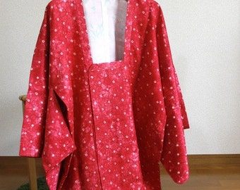MICHIYUKI, kimono coat, red waterdrop