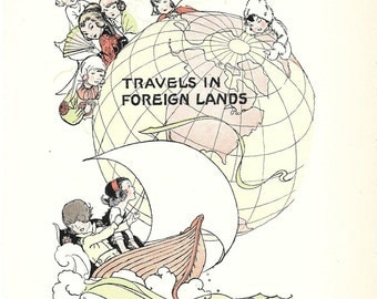 Vintage Nursery Print – Travel in Foreign Lands - 1931