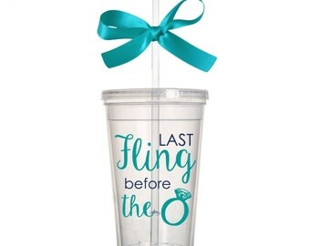 Last Fling Before the Ring Acrylic Tumbler