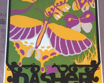 Vintage Original Dasher Green Owen Brown Neighborhood silkscreen by Gail Holliday, 1973