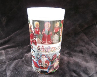 empty Christmas container, cookie container, gift box, Christmas keepsakes, candy box