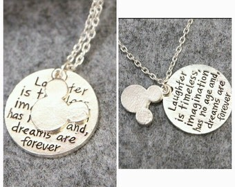 Mickey quote necklace