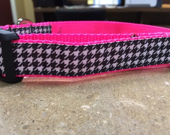 Black and White Houndstooth Collar