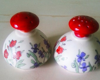 Antique Salt and pepper shakers, vintage shakers, hand painted shakers, A10