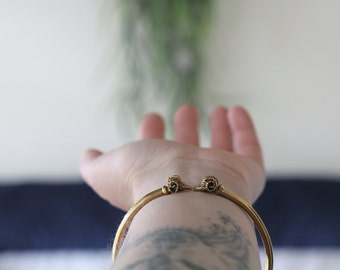 Aries Brass Bangle