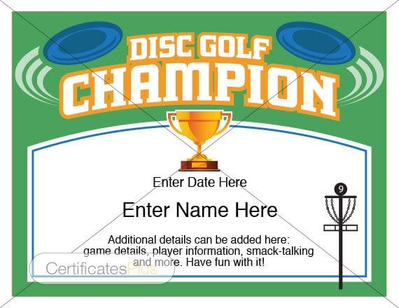 Disc golf certificate champion award disc golf award disc golf certificate champion award disc golf award template disc golf trophy disc golf disc yard games disc golfer frisbee golf yadclub Gallery