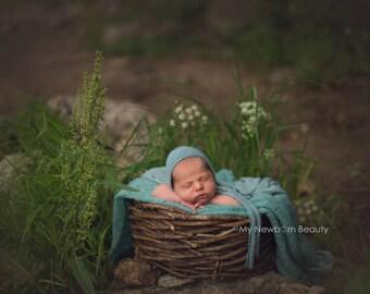 Thick Vine Basket; Newborn Basket; Photo Prop; Posing Prop; Baby Basket