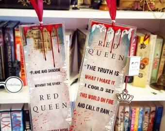 Red Queen bookmark- Handmade