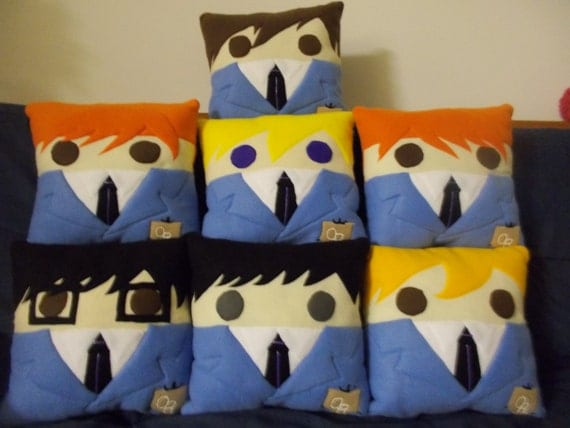 Ouran high school host club throw pillows by charmedsewingcrafts