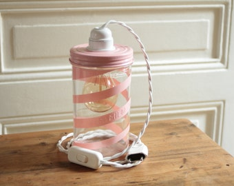 lamp jar familia wiss pink spiral
