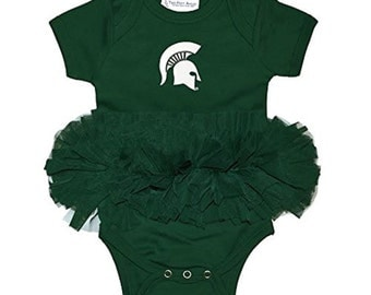 Michigan State Spartans Baby Girls Tutu Creeper