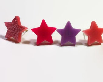 Truly Outrageous Star Earring (4 colors) - CLOSEOUT
