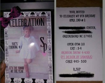 Fashion book invitation
