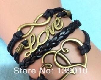 Two hearts love bracelet