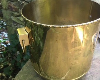 Brass Asian Etched Planter with Handles