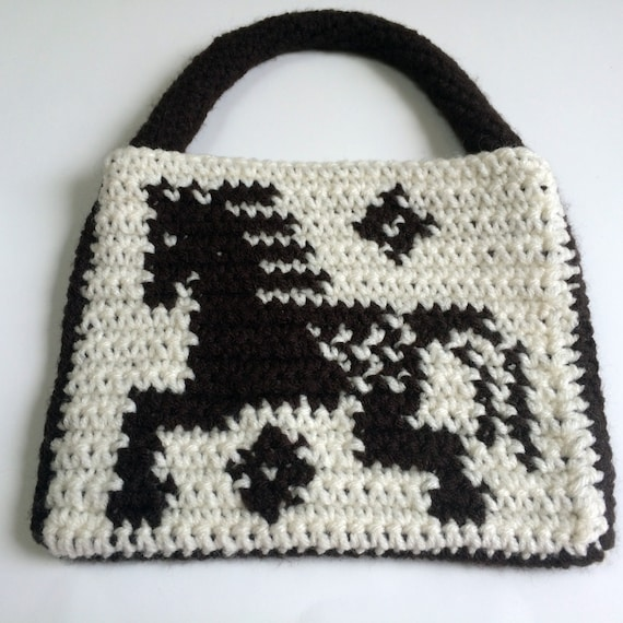 Crochet Purse For Child : Crochet Appaloosa Horse Purse Childs Purse by SoftsideCrochet