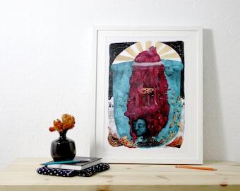 Print. Underwater. 32 x 44, 5 cm.