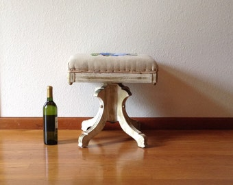 Antique Wood Tonk Piano Stool, Piano Bench, Hall Bench