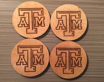 Texas A & M Wood Coasters