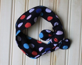 Girls Polka dot Top Knot Headband, Top Knot Headband, Girls Top Knot Headband