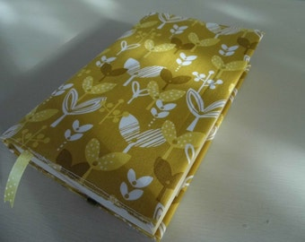 Little Leaves Handmade Fabric Book Cover