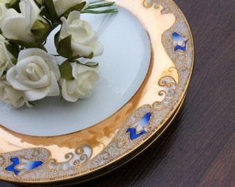 3 Pretty Noritake Side Tea Plates