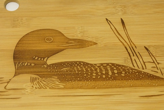 loon cutting board loon decor loon home by elephantmemoriesltd On loon decorations home