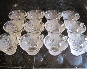 Federal Glass Punch Cups-Americana Eagle - Item #1183