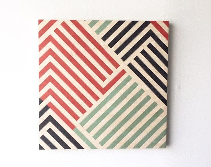 LINES wood art print