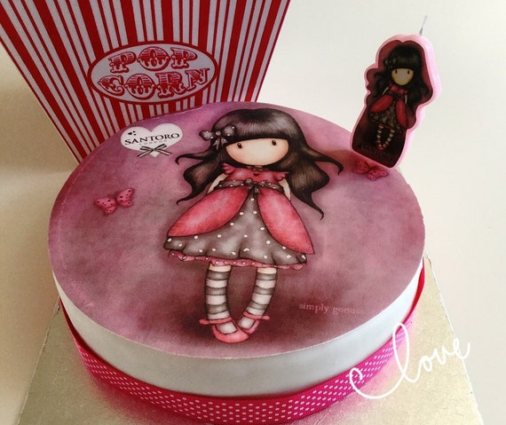 Santoro Gorjuss Edible Wafer Cake Topper And Cake Candle Cake