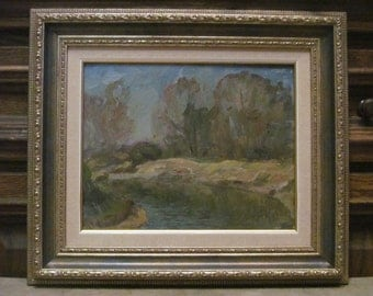 1981 Spring on the river . Oil painting. Siberia. Original
