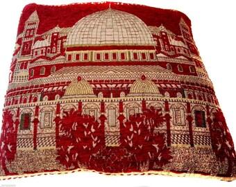 "Red Pillow case Cover Jerusalem Old City Home Decor Holyland Israel 15.7""Israel"