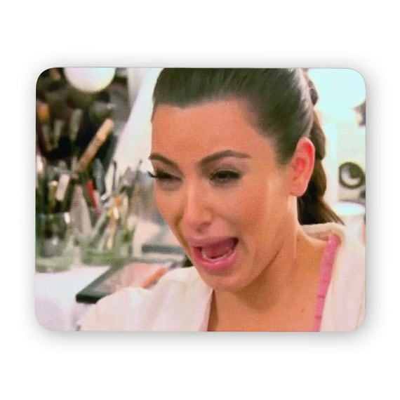 Kim Kardashian Ugly Crying Face Mouse Pad Mouse By Poosparkles