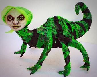 Ooak fire salamander sculpture art doll