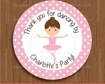Personalized Ballerina Favor Tags, Ballerina Tags, Ballet Labels, Ballerina Printables, Ballet Stickers, Ballerina Labels, Dancer Favor Tags