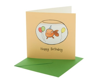 Goldfish Children's Birthday Card