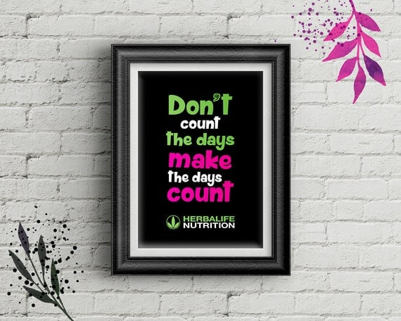 Herballife Motivational Quotes DIY Picture Frame