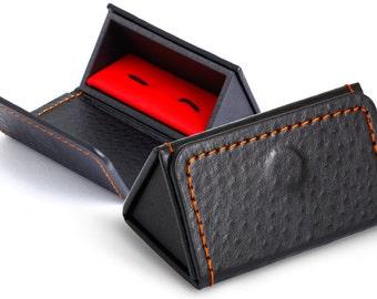 Tri-Fold Leatherette Cufflink Box (CB282)