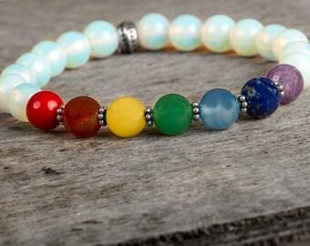 Moonstone Bracelet, Chakra Bracelet, Energy Bracelet, Healing Bracelet, Yoga Jewelry