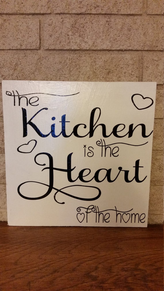 kitchen decor custom wood sign hand painted sign home