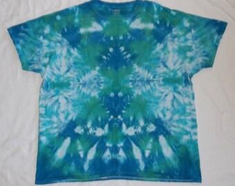 DISCOUNT! Adult 2XL Blue Kaleidoscope Tie-Dye T-Shirt (Free Shipping!)