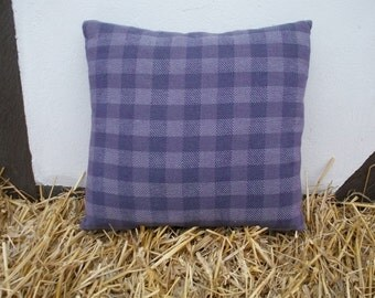 Cushion cover hand-woven, Cushion cover, purple violet grey, 40 x 40 cm, simple minimalist House, 60% cotton - 40 lines