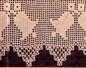 Genuine Vintage Duo Set of 2 Bell Lace Edging and Celestial Charmers Angels Crochet Pattern PDF