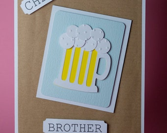 Birthday Wishes Male Beer ~ Male birthday card birthday card for men funny beer card