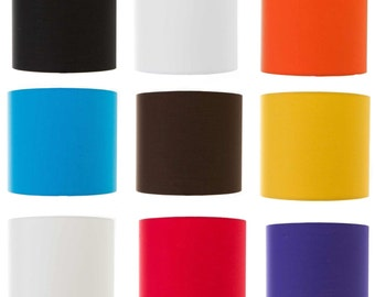 Plain Colour Drum Lampshade Pendant Ceiling Light