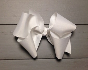 "Boutique style hair bow 6"" wide"