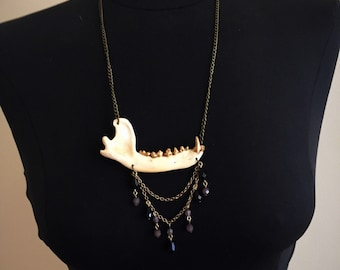 Gold Jaw Bone Necklace