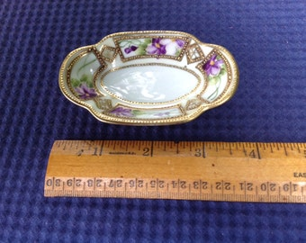 Antique Hand Painted Nippon Miniature Platter Doll