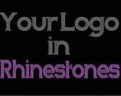 Custom Rhinestone Transfer Design Deposit for custom applique, custom bling, custom logo, custom decal,  iron on patch -Min 3pcs